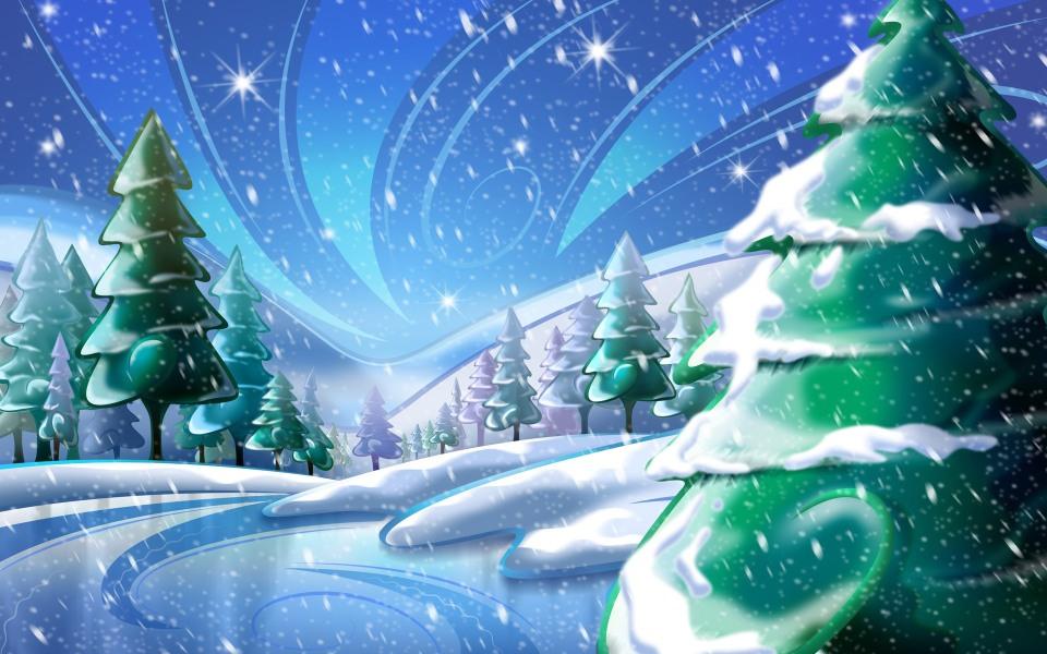 Winter_Pine_Trees